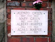 Plaque on Alonzo Green Crypt, Amboy Cemetery Large edited