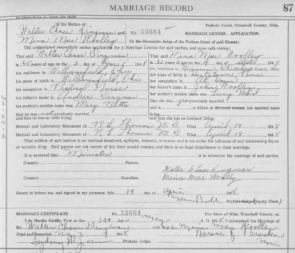 Ohio marriage records trumbull county