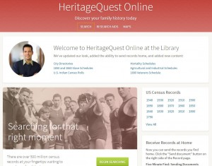 HeritageQuest Online Home Page image